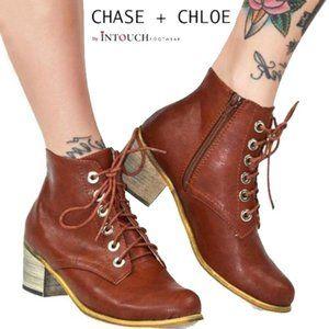 Chase + Chloe Cognac Thunder Boot 8.5